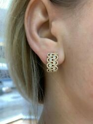 Classic Style 18k Rose Gold Dimond Earrings