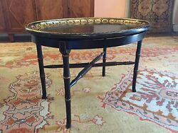English Oval Gilt Tray On Stand English Antique Tole Table Coffee Table
