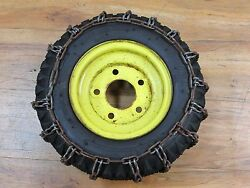 John Deere Snowblower 1032 Rim And Tire With Chain Part No. Am33136