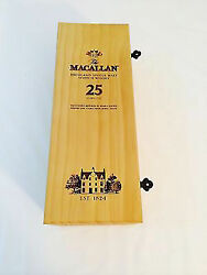 The Macallan 25 Year Scotch Whiskey Box Only Collectible Wooden Gift