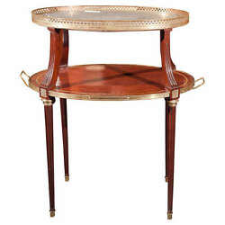 French Two Tier Mahogany Dessert Stand 102-2727