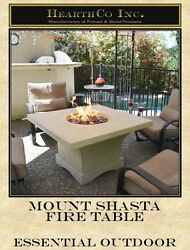 Mount Shasta Fire Table
