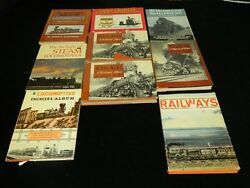 Lot Of 9 Vintage Railroad Books 1940's To 1960's Lucius Beebe And Others