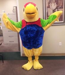 Custom Made Parrot Mascot Character Costume Made In Usa Andndashhighest Quality