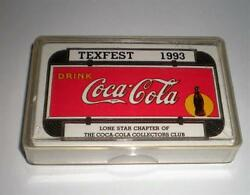 New Never Opened 1993 Tcccc Texfest Coca Cola Coke Deck Of Playing Cards