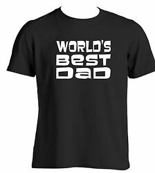 WORLDS BEST DAD novelty t shirt slogan gift ideas for dads fathers Birthday gift