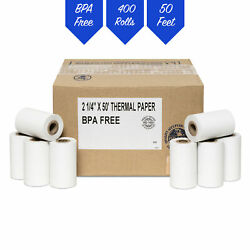 Verifone Vx520 2-1/4 X 50and039 Thermal Receipt Paper - 400 Rolls Free Shipping