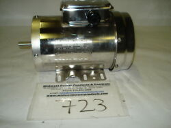 New Reliance Stainless Motor P56h8911 1hp 3450rpm 56c W/feet 230/460 Tefc