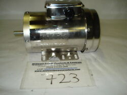 New Reliance Stainless Motor P56h8911, 1hp, 3450rpm, 56c W/feet, 230/460, Tefc