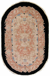 Hand Made Antique Art Deco Chinese Rug 3and039 X 5and039 91cm X 152cm 1930 - 1l13