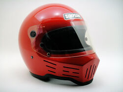Vintage Simpson M32 Motorcycle Helmet Racing Cafe Racer Classic Usa Rider Rx1