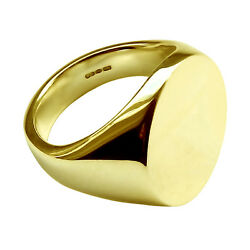 18ct Yellow Gold Oval Signet Ring Extra Large Heavy 20x16x3mm 750 Uk Hm Bespoke
