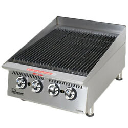 Star 8124rcbb 24 Countertop Gas Charbroiler W/ Steel Alloy Radiants