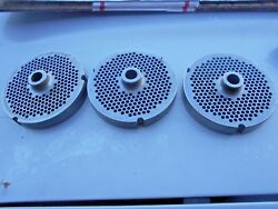 3 Pcs Kasco Meat Grinder Plate Part No. 3248, 3 15/16 O.d., 1/2 Bore,used