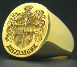 Signet Ring 19x17 Xl Family Crest Custom Engraved Solid 9kt Gold By Joller