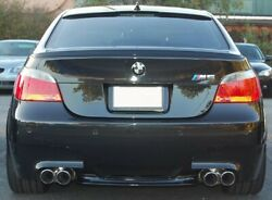 For Bmw E60 5 Series Saloon Rear Boot Trunk Spoiler Lip Wing Sport Trim Lid M5 M
