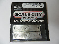 48-381 Flat Car Bolster For Freight Scratch Build Or Brass Fka Keil Line O Scale