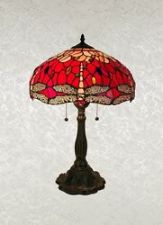 Beautiful Style Red Dragonfly Table Lamp Shade 16