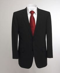 Skopes Oslo Wool Rich Black Stripe Suit Jacket In Chest Size 34 To 62