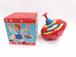 Vintage Old Rare Spinning Top Foreign Humming Top + Box