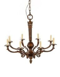 Louis Xvi 8-light Chandelier | Patinated Metal And Iron