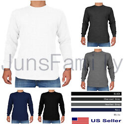 Mens 100%COTTON THERMAL TOP Long Sleeve Waffle Shirts Warm Winter Underwear