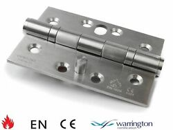 4 X 3 102mm Stainless Steel Twin Ball Bearing Security Pin Hinge With Dog Bolt