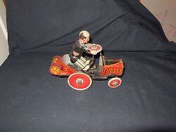 Vintage 1931 Marx Tin Wind Up Coo Coo Car 7