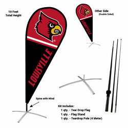 Louisville Cardinals Feather And Swooper Flag And Banner Kit