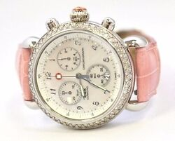 W480- Michele Chronograph Csx Diamond Watch Mother Of Pearl Dial Mw03c01