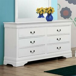 Coaster Louis Philippe 6 Drawer Double Dresser in White