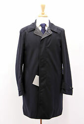 NWT Tom Ford Men's 100% Wool Navy Blue Reversible Jacket Trench Coat Sz 4838US