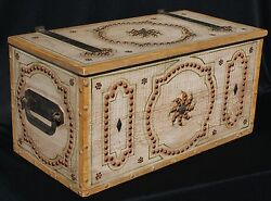 Rare All Original Monterey Classic Decorated Chest With Brass Studs
