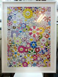 Takashi Murakami: An Homage to Yves Klein Multicolor A (Professionally Framed)