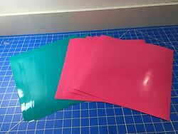 Oracal 651 Cricut Adhesive Vinyl, 10 12x12 Sheets, 5 Hot Pink, 5 Turquoise Blue