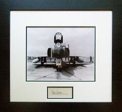F4 Phantom - W/ Autograph Of American Fighter Ace Robin Olds