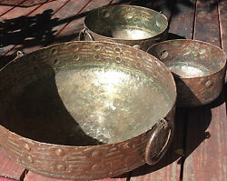 Decorative Cauldron Plant Pot From Recycled Metal Barrels Lg, Med, Or Small New
