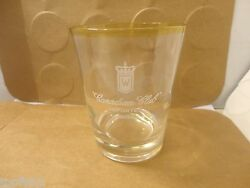 Canadian Club Imported Whiskey Lo Ball Glass, 4 3/8 Tall Used/euc