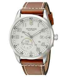 Victorinox Swiss Army Menand039s 241576 Airboss Automatic Leather Strap Watch New