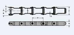 P662 X 10ft Pintle Chain With Pin And Cotter Link 662 Manure Sand Spreader Chain