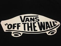 Vans Off The Wall small black T Shirt Skateboard Skate Shoes