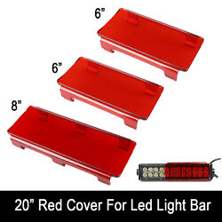 20 Inch Snap On Led Light Bar Lens Covers For 20-22 Jeep Offroad 4x4 120w 126w