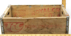 Vintage 1971 Rc Royal Crown Cola Coke Wooden Advertising Carrier Crate