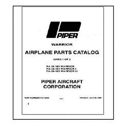 Parts Manual For Piper Pa-28-151/161 Warrior In 3-ring Binder