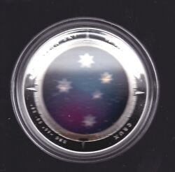 2012 5 Southern Sky Crux Cross Australia Domed Curved 1 Oz Silver Proof Coin