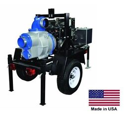 TRASH PUMP - Trailer Mounted - Commercial - 24 Hp Honda - 6
