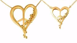 Peace Of Heart Necklace - Small - 18k
