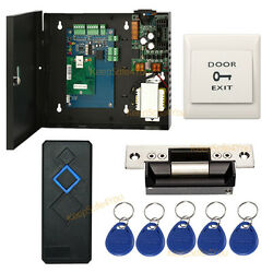 Full 1 Door Access Control System With Ansi Strike Lock+power Supply Box+key Fob