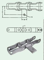 667xh As-9 Pintle Chain With As Attachment Every 9th Link Manure Spreader Chain