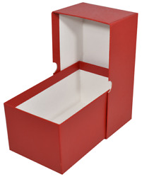 4 Currency Storage Red Box For Modern Regular Size Us Notes Banknote Bill Holder